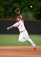 Lake Mary Rams shortstop Brendan Rodgers (3) catches a line drive for the out during a game against the Lake Brantley Patriots on April 2, 2015 at Allen Tuttle Field in Lake Mary, Florida.  Lake Brantley defeated Lake Mary 10-5.  (Mike Janes/Four Seam Images)