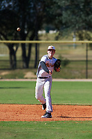 Payton Allen (14) of Bentonville, Arkansas during the Baseball Factory All-America Pre-Season Rookie Tournament, powered by Under Armour, on January 14, 2018 at Lake Myrtle Sports Complex in Auburndale, Florida.  (Michael Johnson/Four Seam Images)