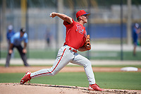 Philadelphia Phillies pitcher Tyler Burch (47) during an Instructional League game against the Toronto Blue Jays on September 27, 2019 at Englebert Complex in Dunedin, Florida.  (Mike Janes/Four Seam Images)