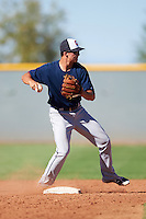 Cleveland Indians Luke Wakamatsu (12) during an Instructional League game against the Kansas City Royals on October 11, 2016 at the Cleveland Indians Player Development Complex in Goodyear, Arizona.  (Mike Janes/Four Seam Images)