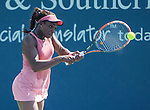 Sloane Stephens (USA) loses to Jelena Jankovic (SRB) 7-6, 6-4 at the Western & Southern Open in Mason, OH on August 14, 2014.