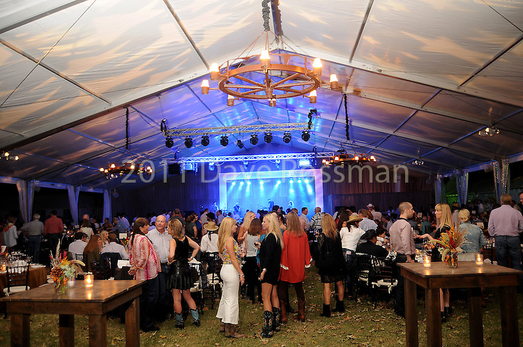 Guests visit at the Nature Conservancy's Nature Rocks  Gala at the Houston Polo Club Thursday Oct. 22,2015.(Dave Rossman photo)