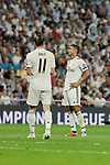 Real Madrid's Gareth Bale (L) and Carlos Henrique Casemiro (R) and AS Roma's during Champions League match. September 19, 2018. (ALTERPHOTOS/A. Perez Meca)