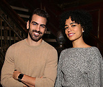 Nyle DiMarco and Lauren Ridloff promote Broadway's revival of 'Children of a Lesser God' at Studio 54 on January 17, 2018 in New York City.