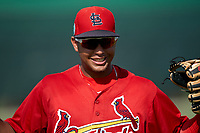 GCL Cardinals Pablo Gomez (22) during warmups before a Gulf Coast League game against the GCL Astros on August 11, 2019 at Roger Dean Stadium Complex in Jupiter, Florida.  GCL Cardinals defeated the GCL Astros 2-1.  (Mike Janes/Four Seam Images)