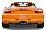 Straight rear view of a 2008 Porsche Boxster LE