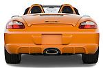 Straight rear view of a 2008 Porsche Boxster LE