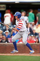 Lexington Legends outfielder Mike Hill (11) at bat during a game against the Hagerstown Suns on May 22, 2015 at Whitaker Bank Ballpark in Lexington, Kentucky.  Lexington defeated Hagerstown 5-1.  (Mike Janes/Four Seam Images)