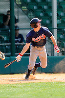 Outfielder Stephen Gaylor (38) of the Atlanta Braves farm system in a Minor League Spring Training intrasquad game on Wednesday, March 18, 2015, at the ESPN Wide World of Sports Complex in Lake Buena Vista, Florida. (Tom Priddy/Four Seam Images)