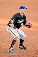 Missoula Osprey third baseman Jake Lamb (18) on defense against the Orem Owlz at Brent Brown Ballpark on July 23, 2012 in Orem, Utah.  The Owlz defeated the Osprey 6-1.  (Brian Westerholt/Four Seam Images)