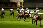 Jockeys riding their horses during Hong Kong Racing at Happy Valley Racecourse on July 04, 2018 in Hong Kong, Hong Kong. Photo by Marcio Rodrigo Machado / Power Sport Images