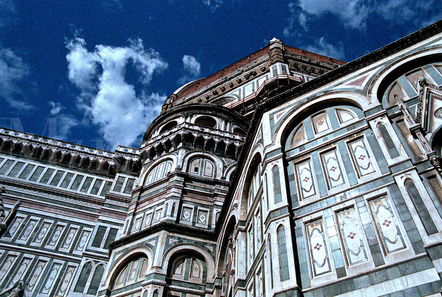 Detail of The Duome, Santa Maria Del Fiore Catholic Church in Florence, Italy