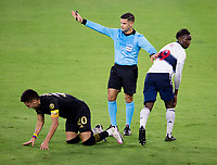 LOS ANGELES, CA - SEPTEMBER 23: Referee Rubiel Vazquez during a game between Vancouver Whitecaps and Los Angeles FC at Banc of California Stadium on September 23, 2020 in Los Angeles, California.