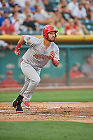 Rangel Ravelo (44) of the Memphis Redbirds bats against the Salt Lake Bees at Smith's Ballpark on July 24, 2018 in Salt Lake City, Utah. Memphis defeated Salt Lake 14-4. (Stephen Smith/Four Seam Images)