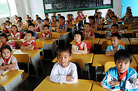 Children in a Chinese primary school, South China. <br /> <br /> Photo by Sinopix