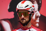 Nathan Haas (AUS) Cofidis at sign on before the start of Stage 6 of the 2021 UAE Tour running 165km from Deira Island to Palm Jumeirah, Dubai, UAE. 26th February 2021.  <br /> Picture: Eoin Clarke   Cyclefile<br /> <br /> All photos usage must carry mandatory copyright credit (© Cyclefile   Eoin Clarke)