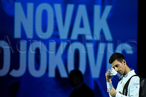 18th November 2020, O2, London, England; Novak Djokovic , Serbia, 2020 ATP Finals , London