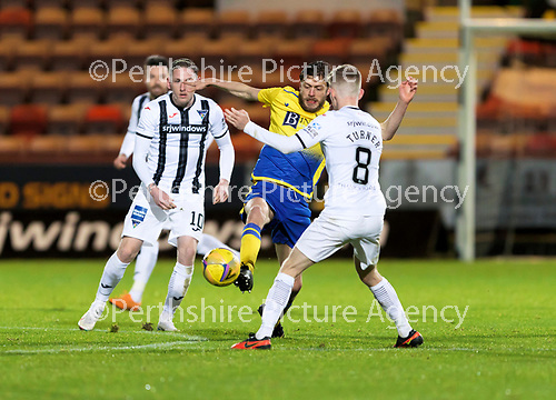 Dunfermline v St Johnstone…15.12.20   East End Park      BetFred Cup<br />Murray Davidson and Kyle Turner<br />Picture by Graeme Hart.<br />Copyright Perthshire Picture Agency<br />Tel: 01738 623350  Mobile: 07990 594431