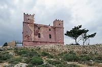 Red Tower auf Marfa Ridge, Malta, Europa