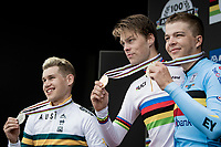 Johan Price-Pejtersen (DEN/Uno-X) crowned himself the newest U23 Mens Time Trial World Champion<br /> with Luke Plapp (AUS/INEOS Grenadiers) 2nd and Florian Vermeersch (BEL/Lotto Soudal) 3rd<br /> <br /> World Championships U23 Men - ITT <br /> Time Trial from Knokke-Heist to Bruges (30.3km)<br /> <br /> UCI Road World Championships - Flanders Belgium 2021<br /> <br /> ©kramon