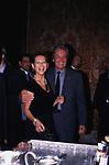"""CLAUDIA CARDINALE CON ALAIN DELON<br /> """"DONNA SOTTO LE STELLE"""" VILLA MEDICI ROMA 2002"""