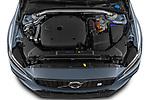 Car Stock 2021 Volvo S60-Recharge Polestar 4 Door Sedan Engine  high angle detail view