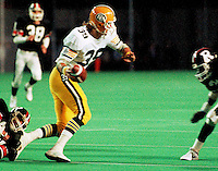 Dan Runge Edmonton Eskimos 1984. Photo Scott Grant