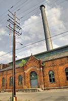 """Old abandoned """"municipal light plant"""", Columbus, Ohio, USA"""