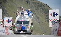 Publicity Caravan up the Col du Tourmalet (HC/2115m/17km/7.3%)<br /> <br /> st11: Pau - Cauterets (188km)<br /> 2015 Tour de France
