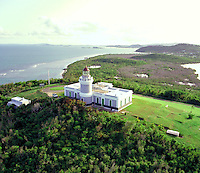 Lighthouse on the North East corner of Puerto Rico. San Juan Puerto Rico United States Caribbean.