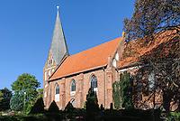 Marienkirche in Poseritz, 14.Jh. auf Rügen, Mecklenburg-Vorpommern, Deutschland