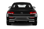 Straight rear view of a 2020 Mercedes Benz C class 43-AMG 2 Door Coupe stock images
