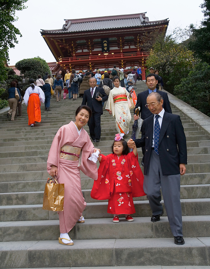 Children of a certain age are presented at a Shinto shrine as  rite of passage Photo by Peter E. Randall