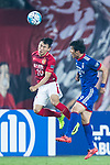 Guangzhou Forward Yu Hanchao (L) fights for the ball with Suwon Forward Park Gidong (R) during the AFC Champions League 2017 Group G match between Guangzhou Evergrande FC (CHN) vs Suwon Samsung Bluewings (KOR) at the Tianhe Stadium on 09 May 2017 in Guangzhou, China. Photo by Yu Chun Christopher Wong / Power Sport Images