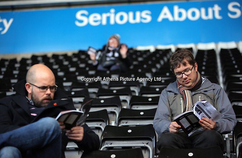 Swansea supporters during the Premier League match between Swansea City and Brighton and Hove Albion at The Liberty Stadium, Swansea, Wales, UK. Saturday 04 November 2017