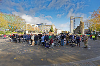 2019 11 11 Armistice Day held at Castle Square Gardens in Swansea, Wales, UK