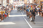 Ineos Grenadiers attack from the peloton on the final climb during Stage 6 of La Vuelta d'Espana 2021, running 158.3km from Requena to Alto de la Montaña Cullera, Spain. 19th August 2021.    <br /> Picture: Luis Angel Gomez/Photogomezsport   Cyclefile<br /> <br /> All photos usage must carry mandatory copyright credit (© Cyclefile   Luis Angel Gomez/Photogomezsport)