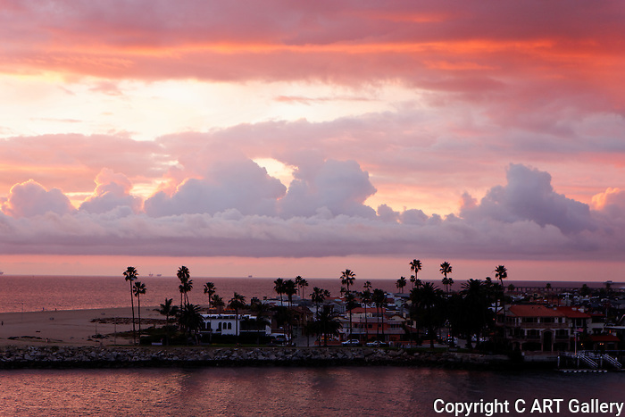 Overlooking Balboa from Corona del Mar.