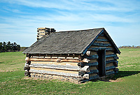Replica of a cabin in which soldiers would have lived at Valley Forge., Pa, USA
