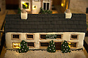 """08/12/16<br /> <br /> Farmyard Inn.<br /> <br /> In this incredibly detailed replica of a small Peak District village, everything is edible, from the baubles on the Christmas trees to the flowers around the houses and what's more the """"village"""" is made from 35 individual rich fruit Christmas cakes which will be eaten on the 25th!<br /> <br /> The amazing model village is made up of 18 shops and houses, which are all realistic reproductions of the actual buildings found in Youlgreave, and is open to the public to view at All Saints' church, the main focal point of the miniature masterpiece.<br /> <br /> Retired florist Lynn Nolan, who decorated all the cakes, came up with the original idea as a way of raising money for the church, which needs a new roof, and the first of the cakes went in the oven back in April.<br /> <br /> MORE...https://fstoppressblog.wordpress.com/the-village-thats-really-a-christmas-cake/<br /> All Rights Reserved F Stop Press Ltd. (0)1773 550665   www.fstoppress.com"""