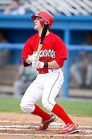 July 1, 2009:  Second Baseman Devin Goodwin of the Batavia Muckdogs at bat during a game at Dwyer Stadium in Batavia, NY.  The Muckdogs are the NY-Penn League Short-Season Class-A affiliate of the St. Louis Cardinals.  Photo By Mike Janes/Four Seam Images