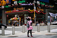 NEW YORK, NY - AUGUST 8: People dressed in costumes as they wait for tourist in Times Square on August 8, 2020 in New York City. With more than four months NYC has closed some of their doors to combat the coronavirus, putting its vital tourism industry paralyzed with a moribund economy, where business and leaders are trying to revive an industry that brought in $45 billion annually and supported more than 300,000 jobs. (Photo by Eduardo MunozAlvarez/VIEWpress)
