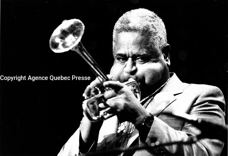 FILE PHOTO  Dizzy Gillespie<br />  circa 1988<br /> <br /> <br /> Photo by Denis Alix - Agence Quebec Presse