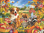 Lori, REALISTIC ANIMALS, REALISTISCHE TIERE, ANIMALES REALISTICOS, zeich, paintings+++++Bobbing For Apples_5_10in_72_Lori Schory,USLS135,#a#, EVERYDAY ,puzzle,puzzles