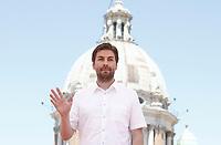 """Il regista statunitense Jon Watts posa durante un photocall per la presentazione del film """"Spider-Man: Homecoming"""" a Roma, 20 giugno 2017. <br /> US film director Jon Watts poses during a photocall for the presentation of the movie """"Spider-Man: Homecoming"""" in Rome, June 20, 2017.<br /> UPDATE IMAGES PRESS/Isabella Bonotto"""