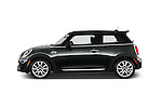Car Driver side profile view of a2015 MINI Mini John Cooper Works 3 Door Hatchback Side View