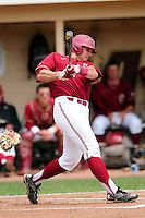 Boston College Eagles left fielder Chris Shaw (24) during a game versus the Notre Dame Fighting Irish at Pellagrini Diamond at Shea Field on May 15, 2015 in Chestnut Hill, Massachusetts.  (Ken Babbitt/Four Seam Images)