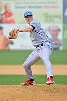 Mike Nesseth (35) of the Reading Fightin Phils pitches during a game against the New Britain Rock Cats at New Britain Stadium on July 13, 2014 in New Britain, Connecticut.  Reading defeated New Britain 6-4.  (Gregory Vasil/Four Seam Images)