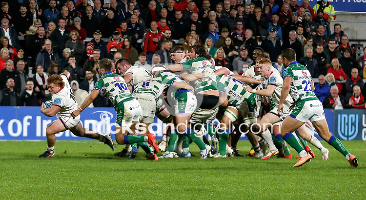 Friday 8th October 2021<br /> <br /> Bradley Roberts during the URC Round 3 clash between Ulster Rugby and Benetton Rugby at Kingspan Stadium, Ravenhill Park, Belfast, Northern Ireland. Photo by John Dickson/Dicksondigital