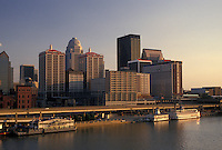skyline, Louisville, KY, Kentucky, Ohio River, Skyline of downtown Louisville along the Ohio River.